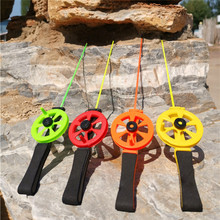 36cm Winter Outdoor Fishing Reel Plastic Fishing Rod Fish Tackle Combination Pole Fishing Accessories random color cheap Ocean Beach Fishing LAKE River Reservoir Pond Ice Fishing Rod 1 7mm HARD