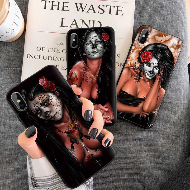 Gợi Cảm Dành Cho iPhone 6 6S 7 8 Plus X XS XR XS Max 5 5s TPU Mềm Mại Bảo Vệ nắp Lưng Điện Thoại Ốp Lưng Vỏ