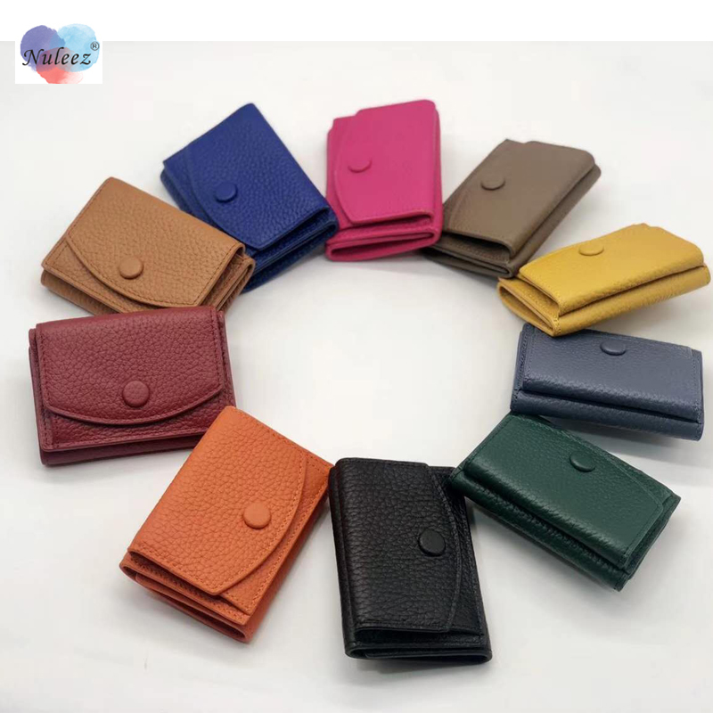 Nuleez Small Changes Wallet Mini Purse Women Cards Holder Cowhide Ladies Fashion Japanese And Korea Style Bag