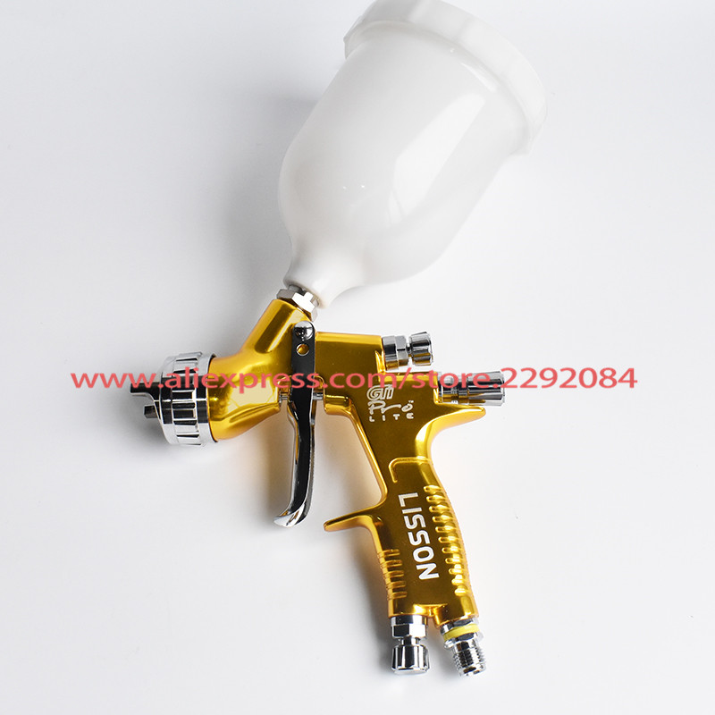 Tools : Professional GTI pro lite Golden Painting Gun TE20 T110 1 3mm nozzle spray gun paint gun water based air spray gun for car paint
