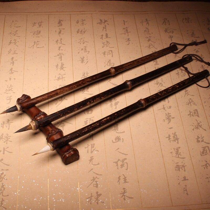 cabelo de coelho tradicional caligrafia chinesa escrita 04