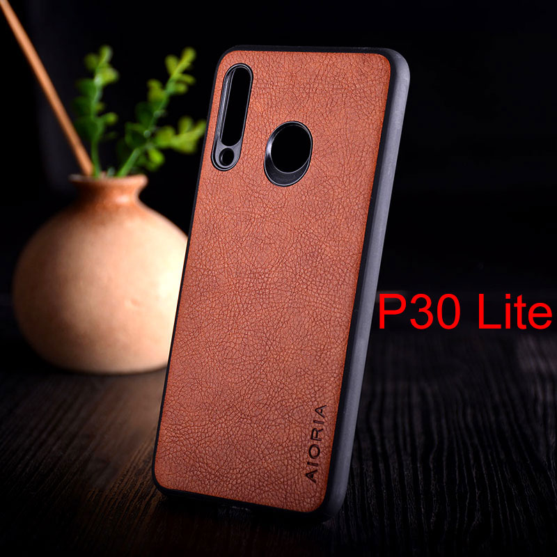 Image 4 - Case for huawei p30 lite pro funda luxury Vintage Leather skin with TPU + PC  hard cover for huawei p30 lite pro case coque capa