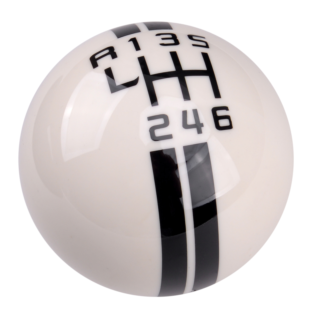 6 Speed Manual Gear Shift Knob Ball Fit for Ford Mustang Shelby GT 500 Cobra MT White Car Accessories
