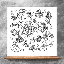 ZhuoAng Ocean World Clear Stamps/Silicone Transparent Seals for DIY scrapbooking photo album Clear Stamps