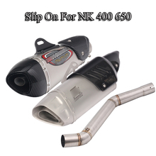 For NK400 650NK Motorcycle Exhaust Muffler Pipe Mid Link Pipe Connect 51MM Muffler Exhaust Tail Tube Slip On Moto Modified