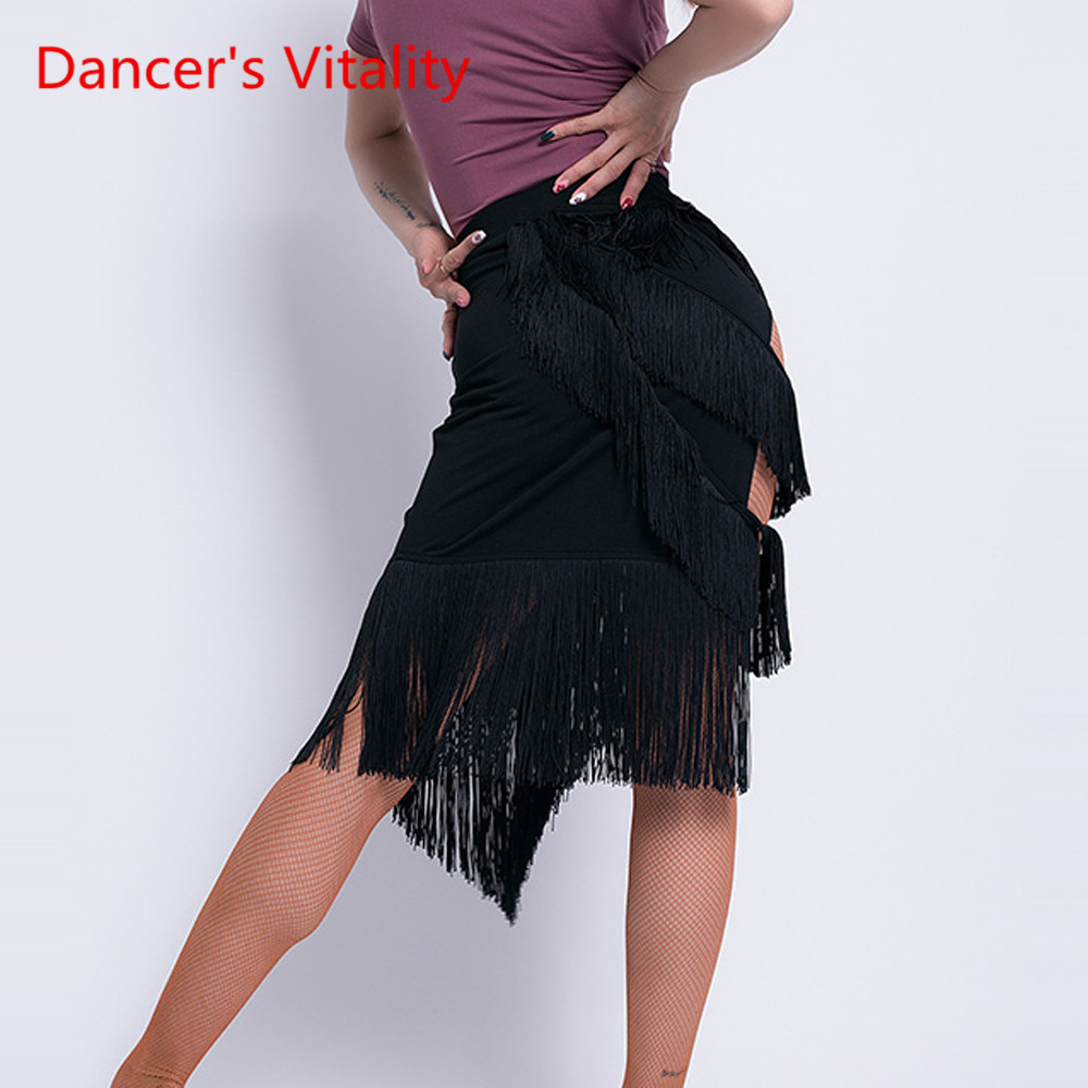 New Latin Dance Skirt Female Adult Sexy Tassel Skirt Training Dance Costume Woman Competition Performance Clothes