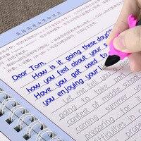 3 livros/conjunto hengshui escrita inglês caligrafia copybook para adultos crianças exercícios caligrafia prática livro libros