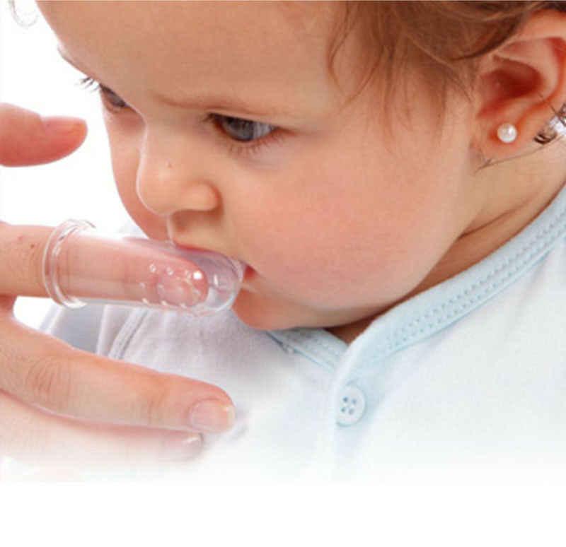 2019 Dedo Escova de Dentes Do Bebê Mordedores Bebê Infantil Silicone Dedo Escova de Dentes Escova de Dentes Mordedor Gum Massageador Tongue Cleaner