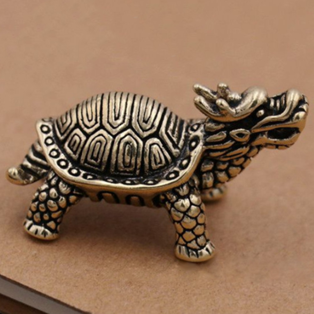 statue Collection Chinese Brass copper *dragon turtle* Lucky pendant