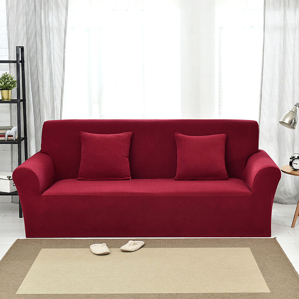 Elastic Sofa Covers For Living Room Full Coverage Solid Color Corner Sofa Cover 1/2/3/4 Seater Comfortable Modular Couch Cover