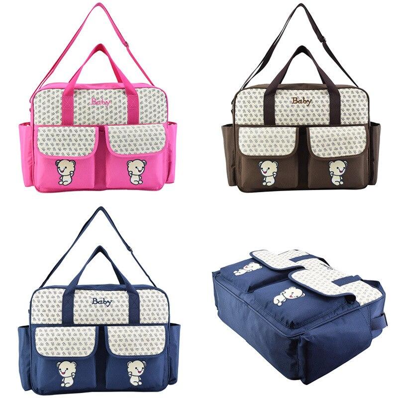 New Style Diaper Bag Crossbody/shoulder Bag Large Capacity Mummy Bag Bear Figure MOTHER'S Bag Pregnant Women Maternity Package