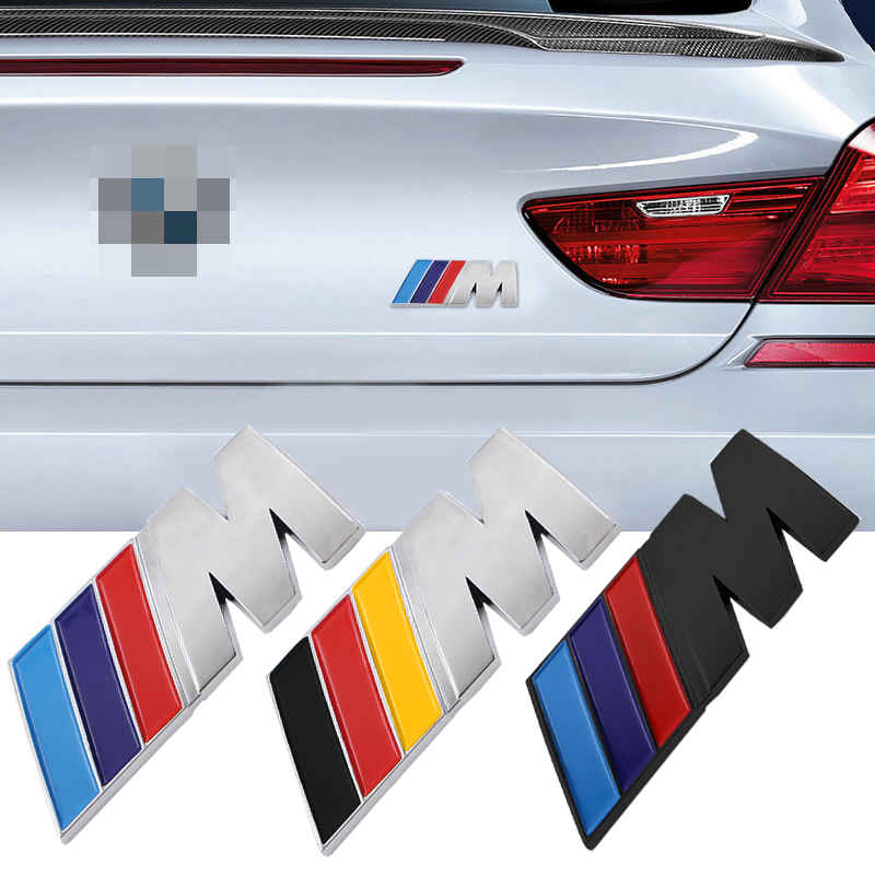 1pc Car M Badge Fender Labeling Car Body ABS Sticker For Bmw M Sticker X1 X3 X4 X5 X6 X7 E46 E90 F20 E60 E39 F10 Car Accessories