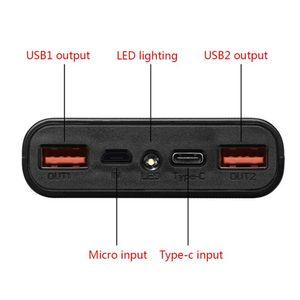 Image 2 - Dual USB QC3.0 6x18650 Batteries 5V 9V 12V DIY Power Bank Box Holder Case Quick Charger