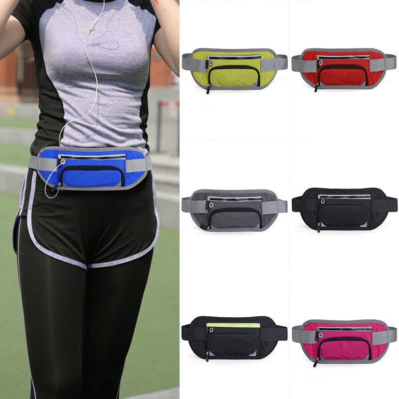 Waist-Belt-Packs Sports Running Fitness Phone-Pouch Reflective-Stripe Xr-Hot Invisible