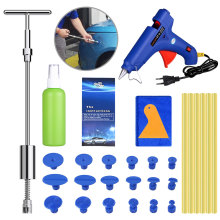 PDR Tools Glue Puller Set Car Dent Repair Kit Paintless Hail Dent Remover Slide Hammer Tabs Glue Gun Hand tools DIY Repair Tools whdz pdr tools paintless dent repair tools car hail damage repair tool hot melt glue sticks glue gun puller tabs kit