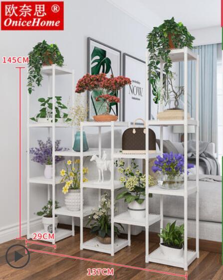 Цветочная полка многоэтажное внутреннее Специальное предложение пространство балкон гостиная растение стенд зеленая редька цветочный горшок полка для кухонной утвари посадки - Цвет: 20