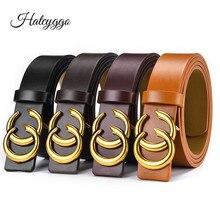 HATCYGGO Luxury Belts Retro Wide Belt Female Leather For Women Waist Designer Brand Ladies Dress