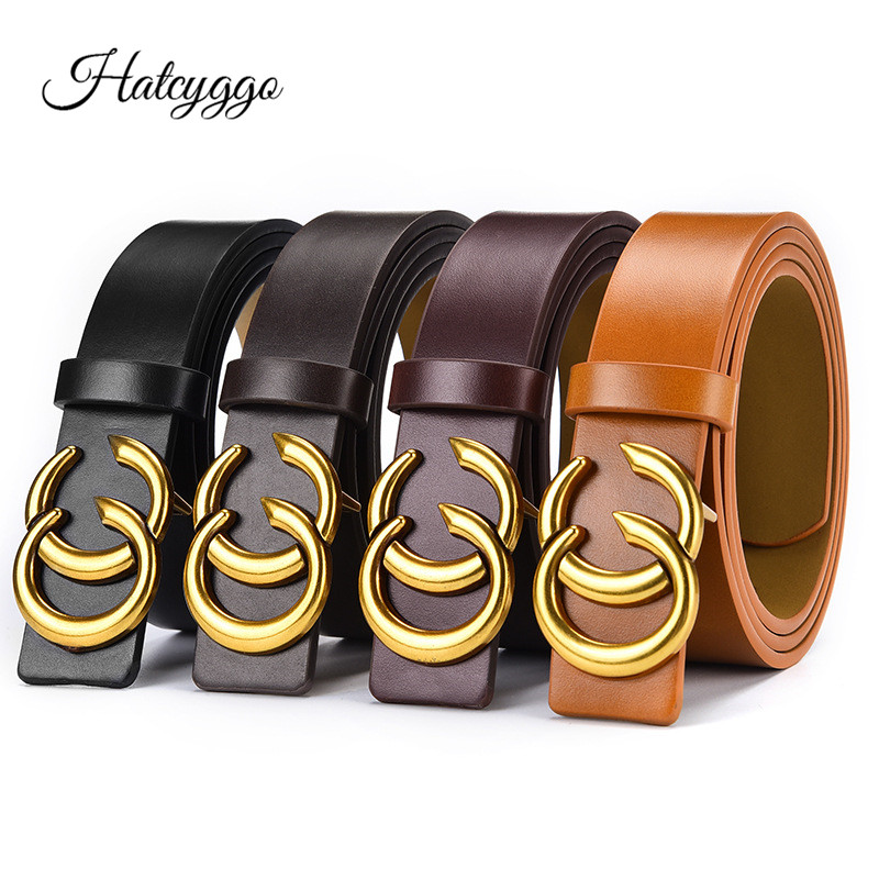HATCYGGO Luxury   Belts   Retro Wide   Belt   Female Leather   Belts   For Women Waist   Belt   Women Designer Brand Ladies   Belts   Dress