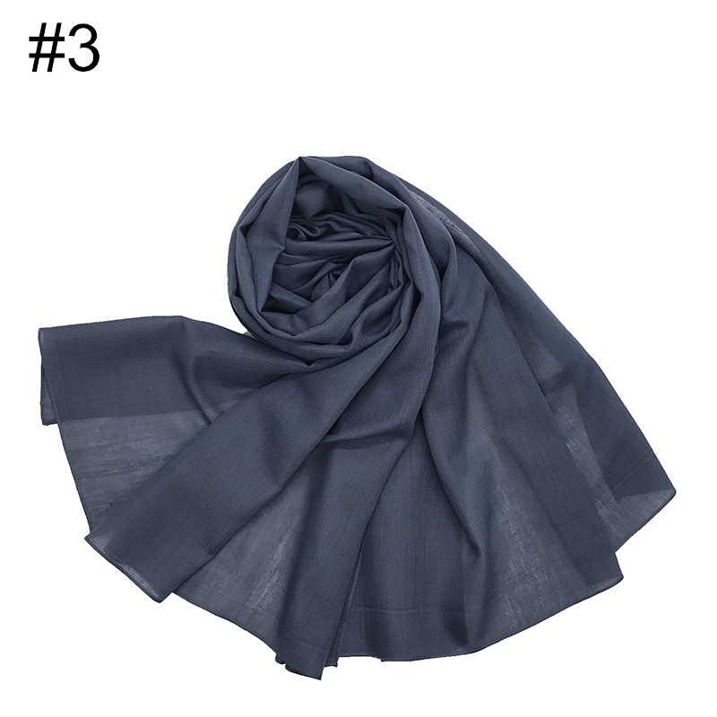180X75CM Lungo delle Donne Hijab Scialle Viscosa di Cotone Sottile Sciarpe Wraps Malesia Foulard Turbante Hijab Islamico di Modestia foulard