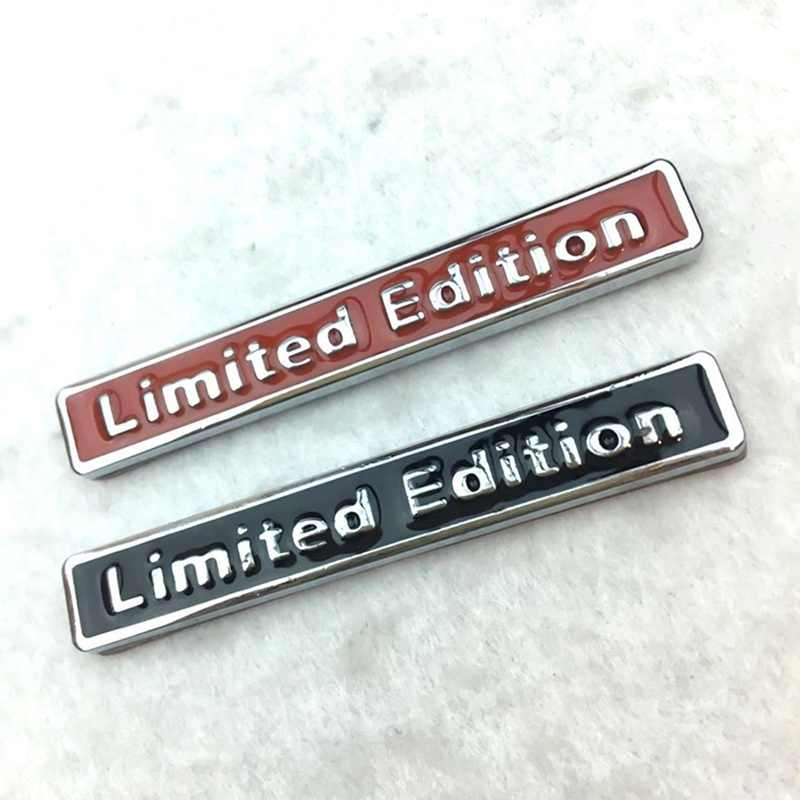 3D Chrome Metal Limited Edition Badge Car Styling Emblem Sticker Decal Universal For Auto Black Stickers