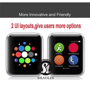 Image 3 - ساعة يد ذكية من سلسلة 4 مزودة بخصم 50% ساعة يد ذكية لهواتف أبل 5 6 7 آيفون أندرويد هاتف ذكي مزود بمراقب لنبضات القلب (زر أحمر)