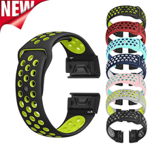 26mm 22mm Silicone Quick Fit Bands For Garmin Fenix 3/Fenix 3 HR/Fenix 5 5X Wrist belt Bracelet strap for 935 Watchband
