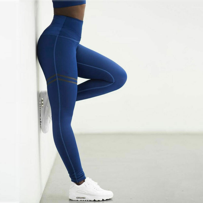 Women's Pants Fitness Leggings Printed High Waist Pants Running Gym Sport Jogging Pants Trousers