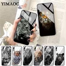YIMAOC russian bear tiger lion Glass Case for Huawei P10 lite P20 Pro P30 P Smart honor 7A 8X 9 10 Y6 Mate 20