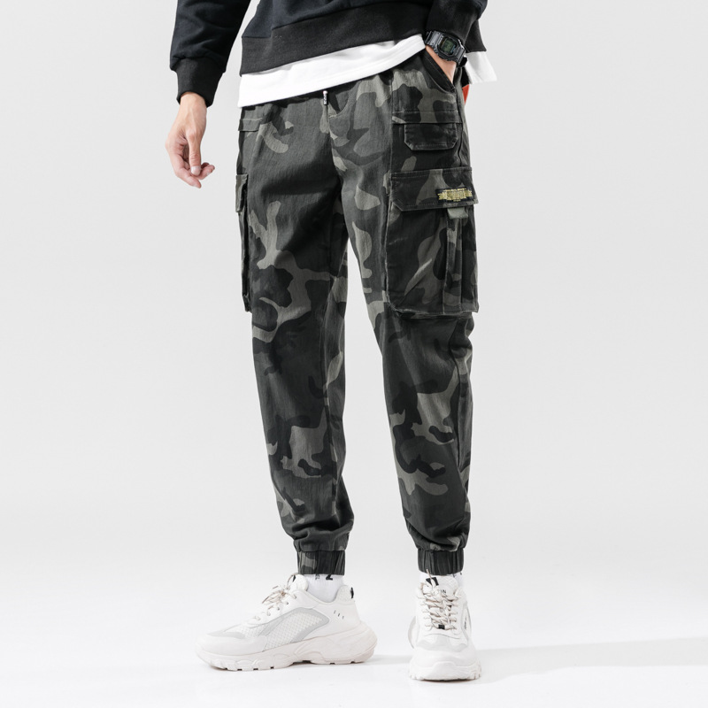 Spring And Autumn New Style Korean-style Men's Trousers Fashion Camouflage Casual Pants Fashion MEN'S Overalls Large Size Men's