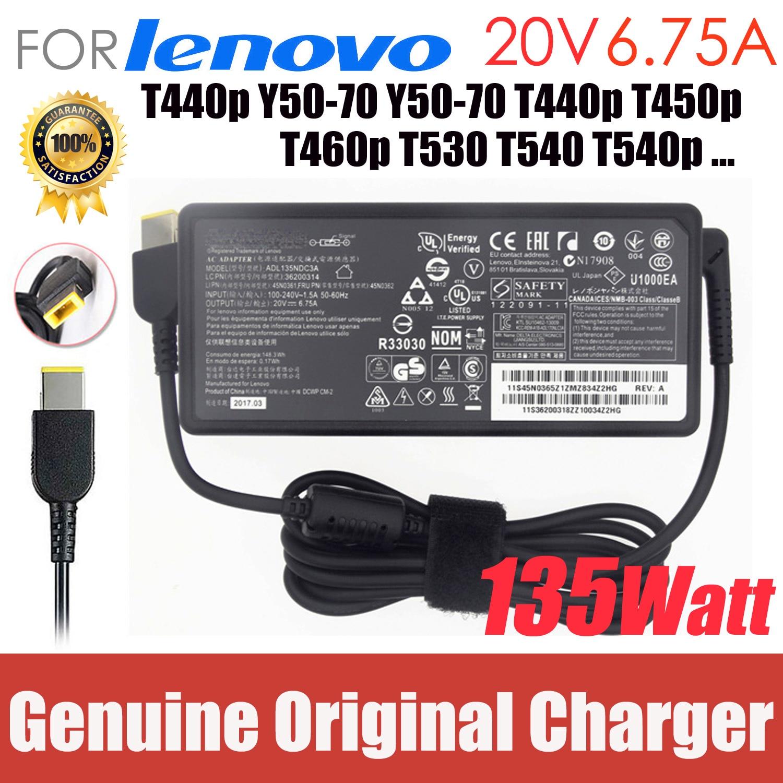 20V 6.75A 135W Para Lenovo Thinkpad originais T440p Y50-70 Y50-70 T440p T450p T460p T530 T540 T540p Laptop AC Charger adapter