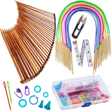 Long-Needle-Set Weave-Tool-Accessories Sewing Circular Bamboo with DIY 18-Pair 35cm Color-Tube