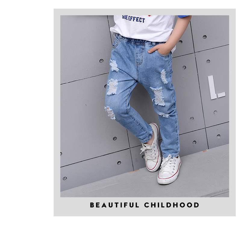 cintura longa crianças calças nova moda solto