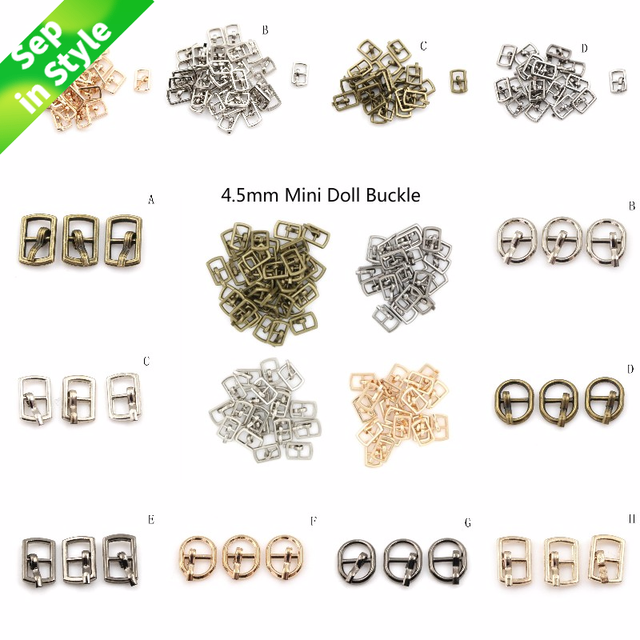 3/10PCS 4.5mm Mini Buckle DIY Patchwork Buckle For Dolls Clothing Adjustable Accessories Handmade Sewing 1