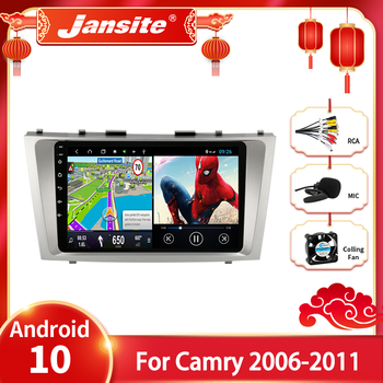 JMCQ Android 10.0 Car Radio For Toyota Camry 6 XV 40 50 2006 - 2011 Multimedia Video Player Navigaion GPS 2 din Stereo Head unit image