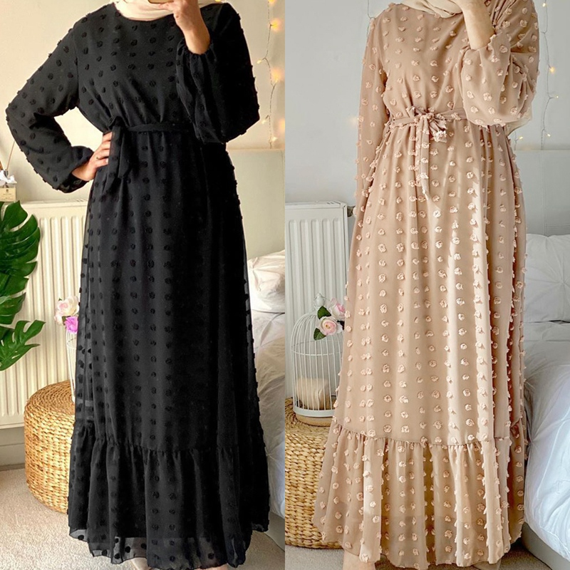 Abaya Dubai Turkey Hijab Muslim Fashion Dress India Islam Clothing Dresses for Women Dress 1