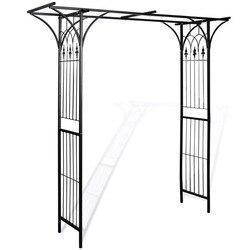VidaXL Giardino Arco di 200x52x204 Cm Per Le Rose E Piante Rampicanti Resistente Agli Agenti Atmosferici Durevole Ferro Patio Arco