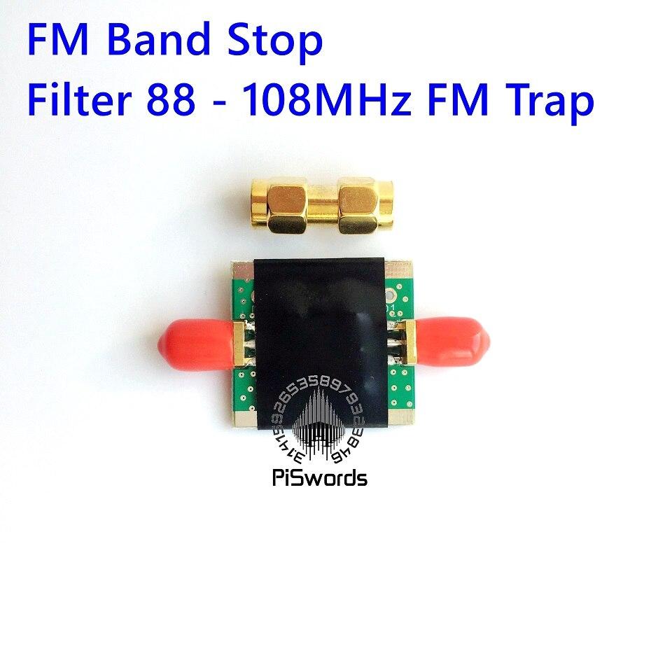 Легкая версия, вещание, FM-полосный стоп-фильтр 88 - 108 МГц, FM-ловушка, плата PCBA для SDR rtl std hackrf bandstop piswords