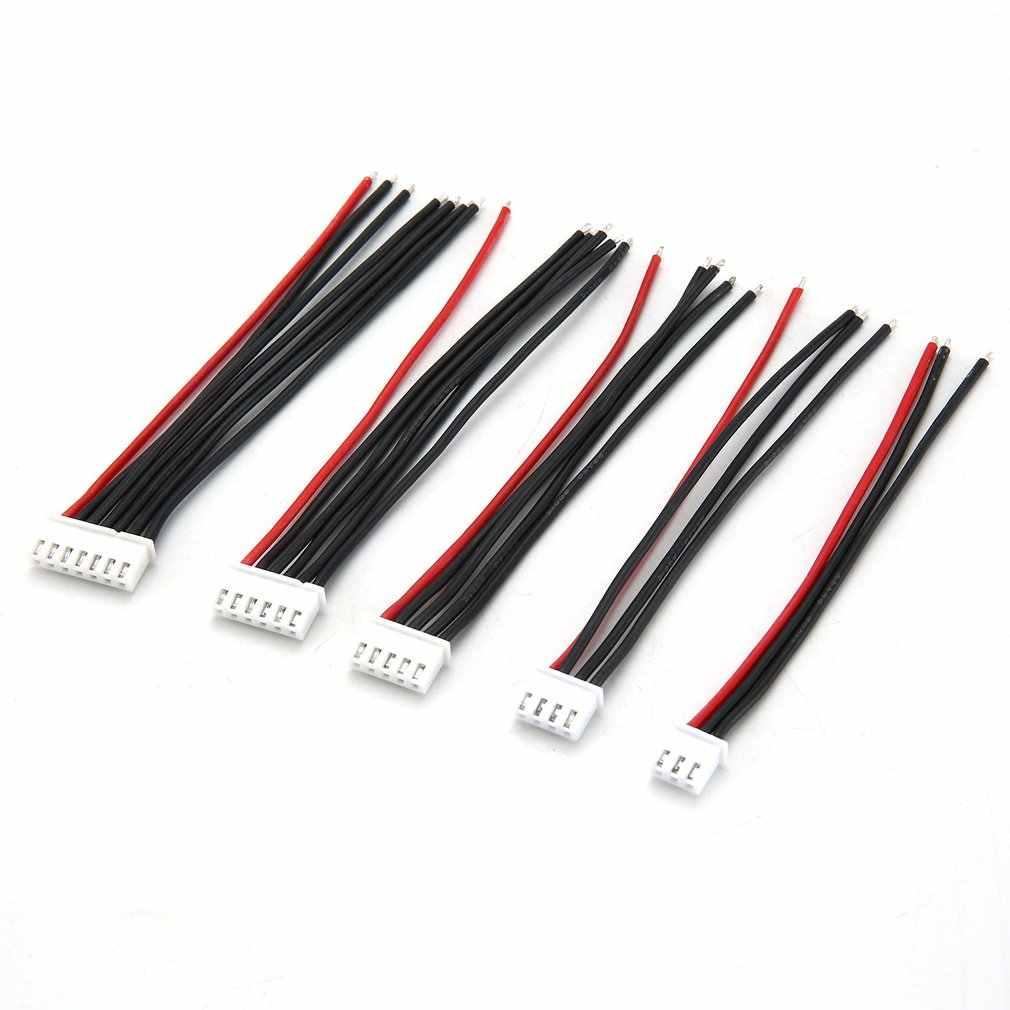 5 ピース/ロット 100 ミリメートル 22AWGプラグrcリポバッテリーバランス充電器 2s 3s 4s 5s 6s 22AWGケーブルラインimax B3 B6