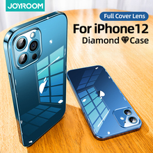 Joyroom 9H Glas Case Voor Iphone 12 Pro Max Mini Glas + Tpu Shockproof Len Bescherming Case Voor Iphone 12 Pro Transparant Case
