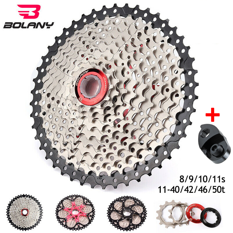 BOLANY 8s 9s 10s <font><b>11speed</b></font> MTB Bike Cassette Mountain Bike Parts 11-40/42/46/50T Sprocket Derailleur Fit Shimano/<font><b>SRAM</b></font> image