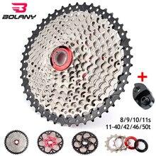 Bolany 8s 9s 10s 11 velocidade mtb bicicleta cassete mountain bike peças 11 40/42/46/50t roda dentada desviador ajuste shimano/sram