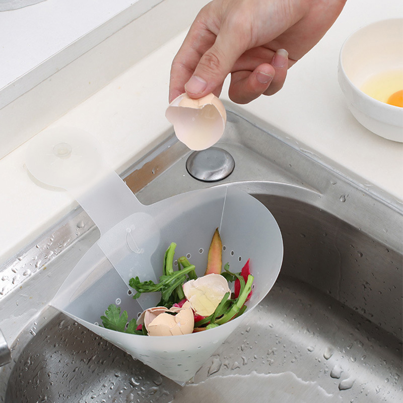 Foldable Filter Simple Sink Self-Standing Stopper Kitchen Anti-Blocking Device