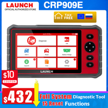LAUNCH X431 CRP909E obd2 scanner Full system Diagnostic tool + Airbag SAS TPMS EPB IMMO 15 Reset Functions CRP909X code reader