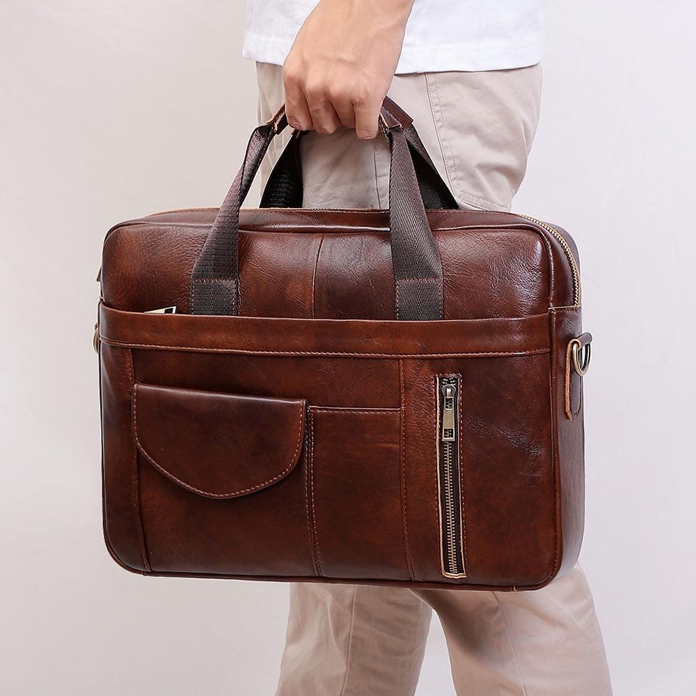 JOYIR мужской портфель из натуральной кожи, модные деловые сумки через плечо, 15,6 дюйма, сумки для ноутбука, Офисные Сумки для документов