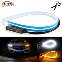 OKEEN 2 pièces étanche Flexible universel LED de voiture DRL diurne lumière flux fonctionne phare LED bande frein clignotant