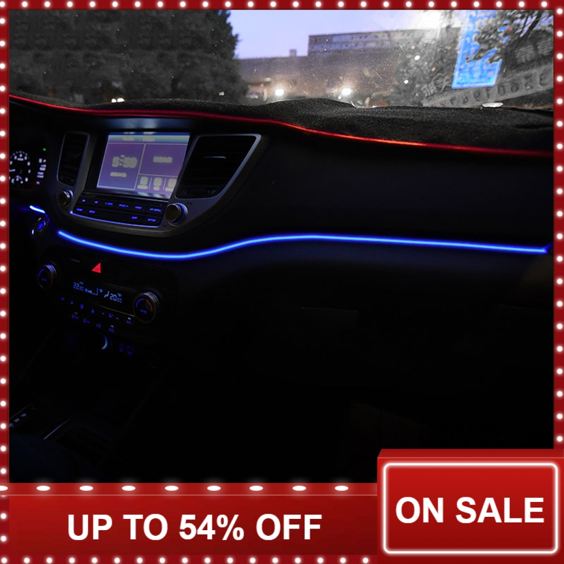 Instrument Panel Trim Atmosphere Light For Hyundai Tucson 2015 2016 Interior LED Blue Dashboard Frame Light For Tucson 2017 2018-in Interior Mouldings from Automobiles & Motorcycles