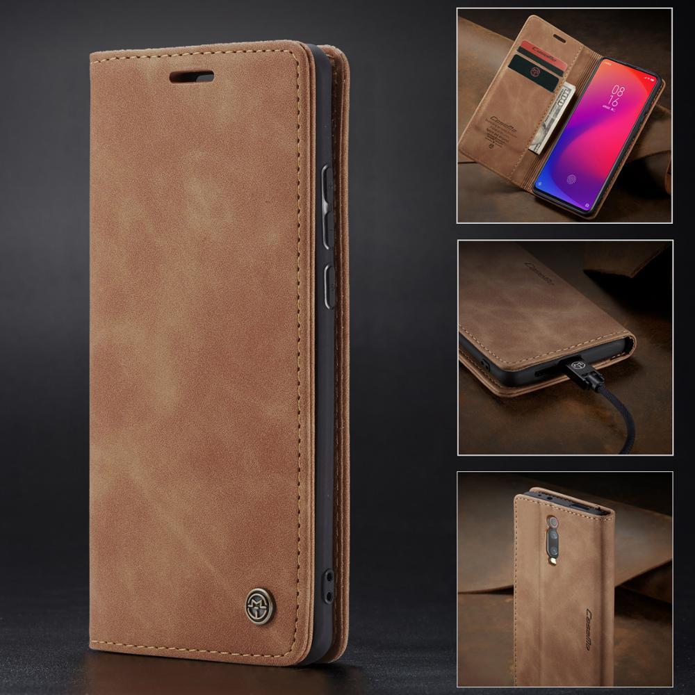 Matte Magnetic Flip Case For Xiaomi Mi 9T 9 T Mi9 Pro Wallet Case Business Leather Book Case For Xiaomi Redmi K20 K 20 Pro Cover(China)