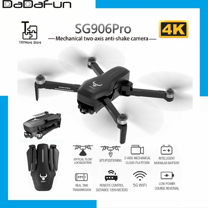 2020 NEW SG906 pro 5G drone 4k HD mechanical gimbal camera wifi gps system supports TFcard drones flight 25 min distance 1 2km