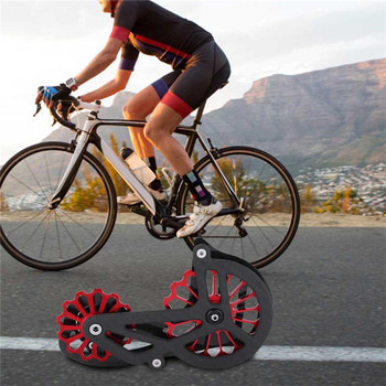 Bicycle Guide Wheel Bicycle Carbon Fiber Ceramic Rear Derailleur 17T Pulley Guide Wheel Bike Accessories Safety Smooth Riding