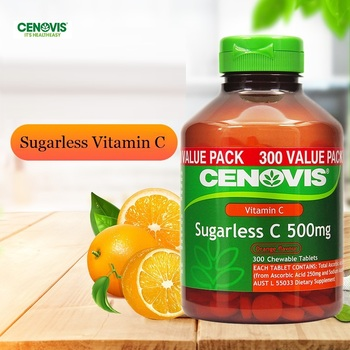 Australia Cenovis Sugarless Vitamin C VC 500mg Tablets COLD IMMUNITY Men Women Health and Wellness Vitamins Capsules Supplements